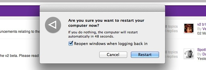Restart without Relaunch